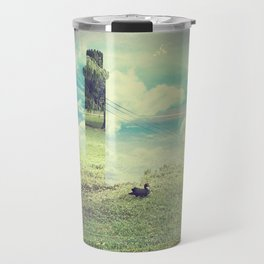 tower at the grass pond Travel Mug