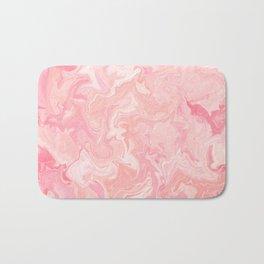 Blush pink abstract watercolor marble pattern Bath Mat