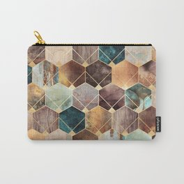 Natural Hexagons And Diamonds Carry-All Pouch