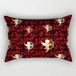 Cupids and Hearts Rectangular Pillow