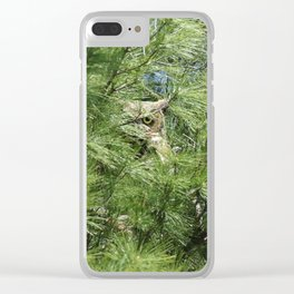 Can you find the owl Clear iPhone Case