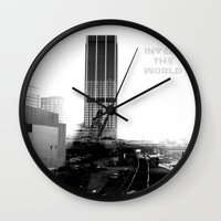 atlanta Wall Clocks featuring Rebirth Atlanta by Invert The World