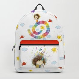 Greña ~ Crazy Hair White Backpack