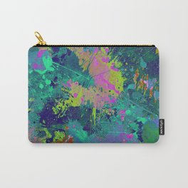 Messy Art I - Abstract, paint splatter painting, random, chaotic and messy artwork Carry-All Pouch
