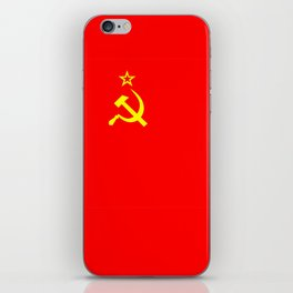 ussr cccp russia soviet union communist flag iPhone Skin