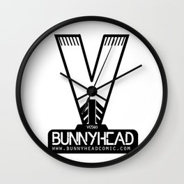 BUNNYHEAD WHITE Wall Clock