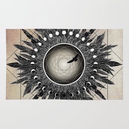 Crow Twilight Dreamcatcher Rug