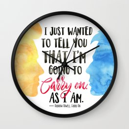 Carry On Wall Clock