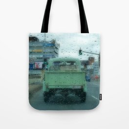 Rainy Days and Vintage Vehicles Tote Bag