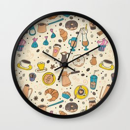 Spicy coffee Wall Clock