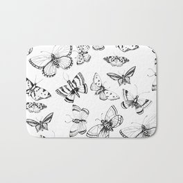 Butterflies and moths Bath Mat
