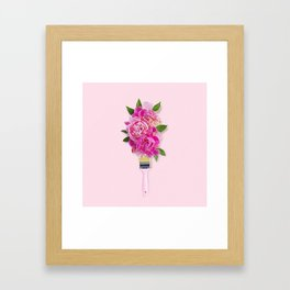 Peonies on Pink Framed Art Print