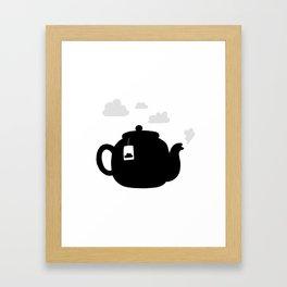 Cloudy pot Framed Art Print