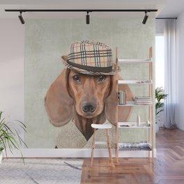 The stylish Mr Dachshund Wall Mural
