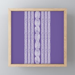 Cable Stripe Violet Framed Mini Art Print