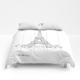 The Eiffel Tower, Paris Comforters