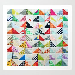 Flying Geese Quilt Pattern Art Print