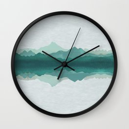 mountains print Wall Clock