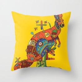 Kangaroo, cool wall art for kids and adults alike Throw Pillow