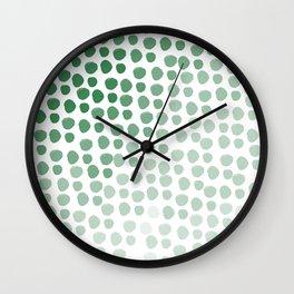 Green Ombre Wall Clock