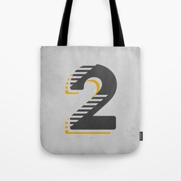 Number 2 Typography Tote Bag