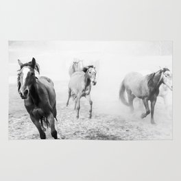 Running with the horses Rug