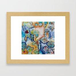 In The Deep End Framed Art Print