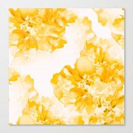 Beautiful Peony Flowers White Background #decor #society6 #buyart Canvas Print