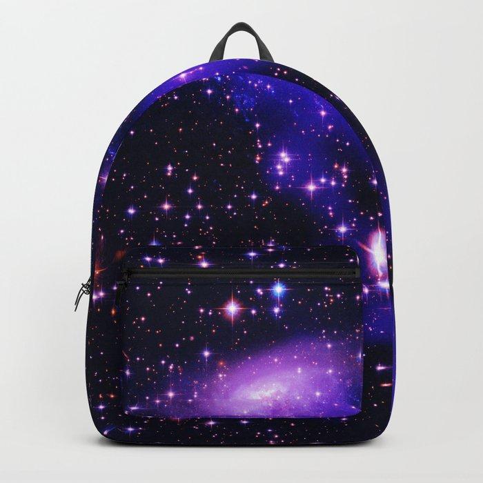 GAlaxy Purple Hot Pink Stars Backpack