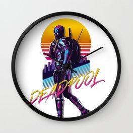 Dead Pool 80s Retro Wall Clock