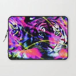 Color Splashed Tiger Laptop Sleeve