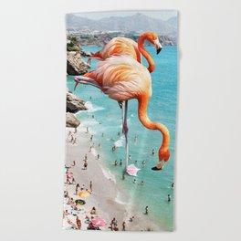 Flamingos on the Beach #society6 #decor #buyart Beach Towel