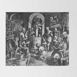 Alchemical Laboratory Throw Blanket
