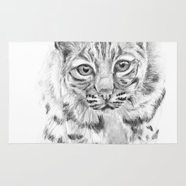 On the Prowl :: A Young Bobcat Rug