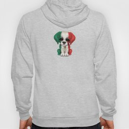 Cute Puppy Dog with flag of Mexico Hoody