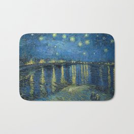Starry Night Over the Rhône Bath Mat