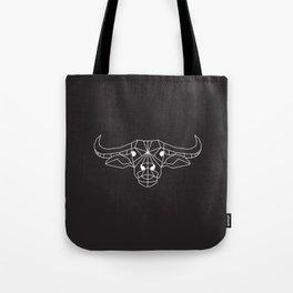 raya goods : raya the water buffalo (kalabaw) white on black Tote Bag