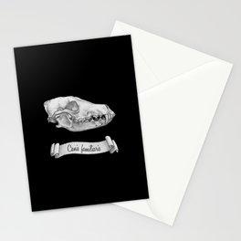 Dog Skull in Ink Stationery Cards