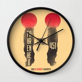 Fahrenheit 451, François Truffaut, french movie, british film, Ray Bradbury,  dystopian novel, book Wall Clock