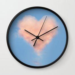 Heart Cloud Circle Wall Clock