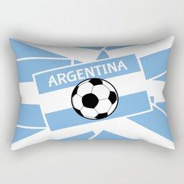 Argentina Football Rectangular Pillow
