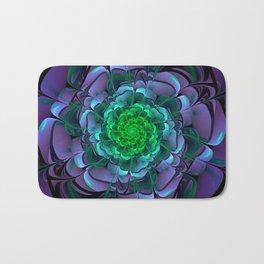 Beautiful Purple & Green Aeonium Arboreum Zwartkop Bath Mat