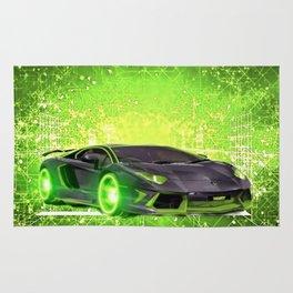 Tronic Green Sports Car Rug