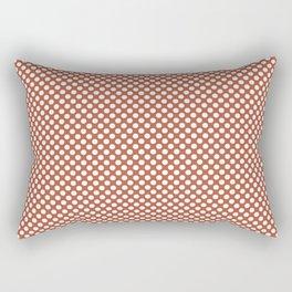 Autumn Glaze and White Polka Dots Rectangular Pillow