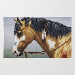 Native American Buckskin Pinto War Horse Rug
