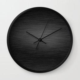 Dark Brushed Metal texture Wall Clock