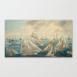 Imaginary Regatta of America's Cup Winners, 1889 Canvas Print