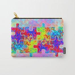 Autism Colorful Puzzle Pieces Carry-All Pouch