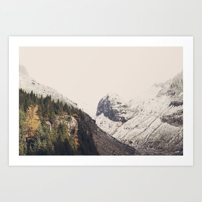 Winter Mountain Morning Art Print