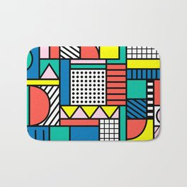 Memphis Color Block Bath Mat